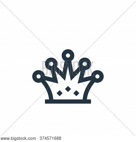 crown icon isolated on white background from history collection. crown icon trendy and modern crown