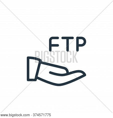 ftp icon isolated on white background from data transfer collection. ftp icon trendy and modern ftp