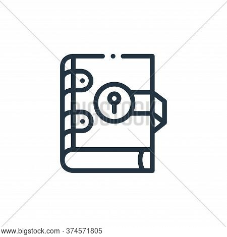 book icon isolated on white background from videogame elements collection. book icon trendy and mode