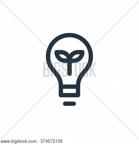 eco light icon isolated on white background from technology of the future collection. eco light icon