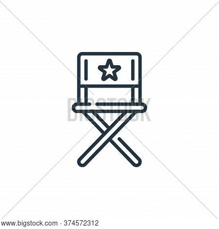 director chair icon isolated on white background from fame collection. director chair icon trendy an
