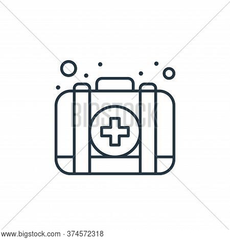 first aid kit icon isolated on white background from coronavirus collection. first aid kit icon tren