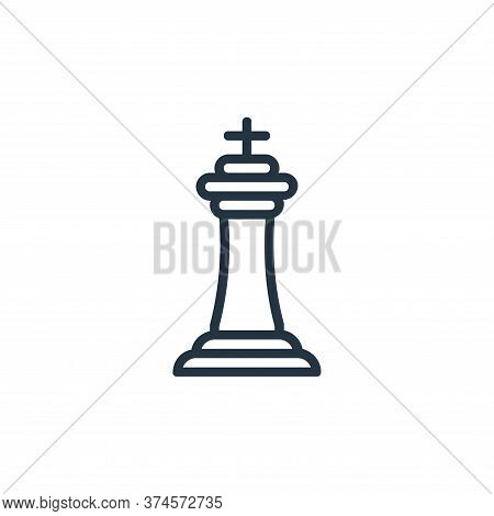 king icon isolated on white background from chess game collection. king icon trendy and modern king
