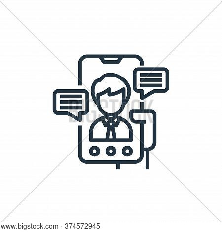 video call icon isolated on white background from working from home collection. video call icon tren