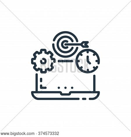 laptop icon isolated on white background from startup collection. laptop icon trendy and modern lapt