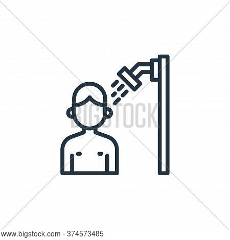 showering icon isolated on white background from coronavirus collection. showering icon trendy and m