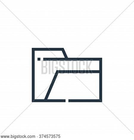 empty folder icon isolated on white background from web essentials collection. empty folder icon tre