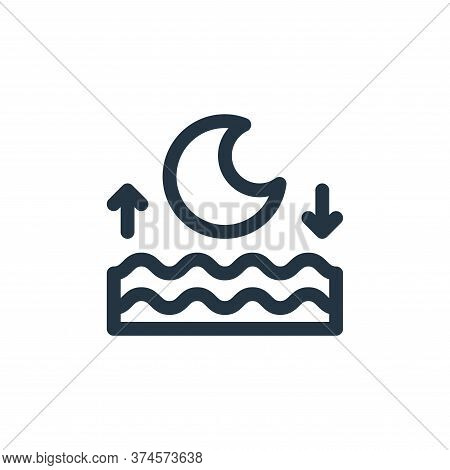 high tide icon isolated on white background from climate change collection. high tide icon trendy an