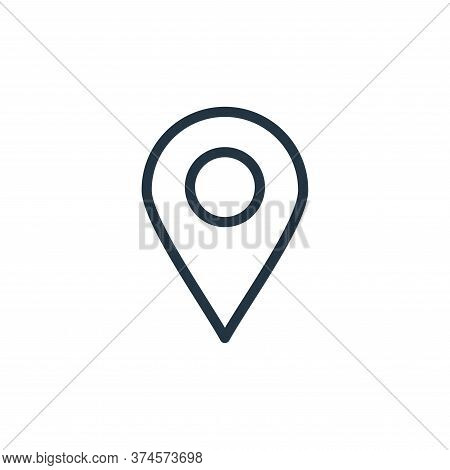 location pin icon isolated on white background from navigation collection. location pin icon trendy