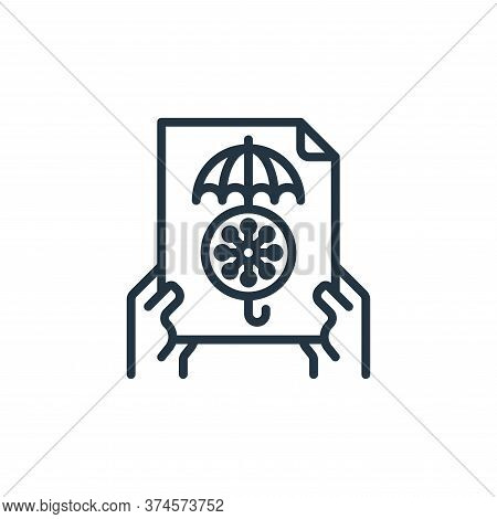 insurance icon isolated on white background from coronavirus collection. insurance icon trendy and m