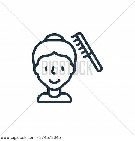 hair comb icon isolated on white background from hygiene collection. hair comb icon trendy and moder