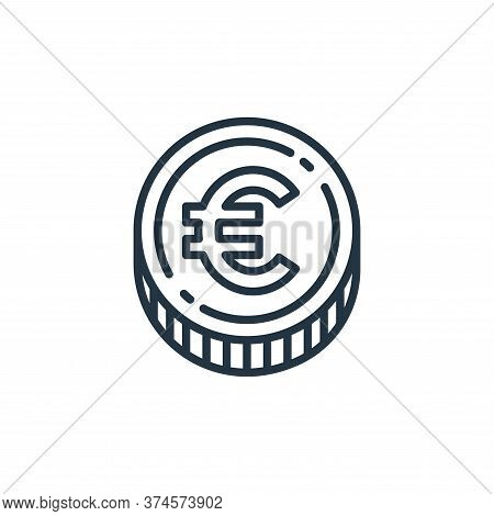 euro coin icon isolated on white background from money and currency collection. euro coin icon trend