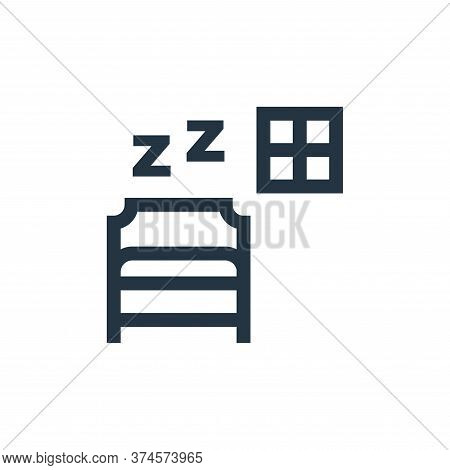 sleep icon isolated on white background from hobbies collection. sleep icon trendy and modern sleep