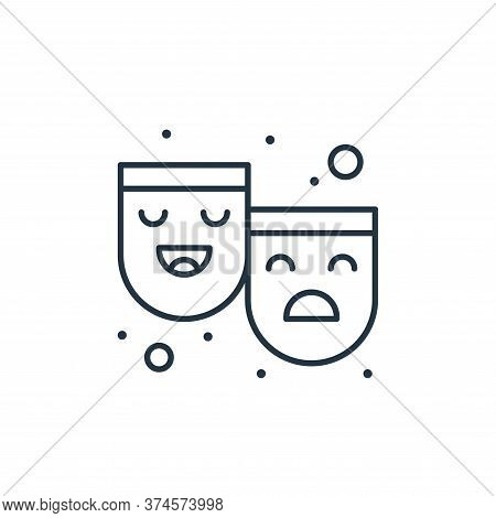 mask icon isolated on white background from brazilian carnival collection. mask icon trendy and mode