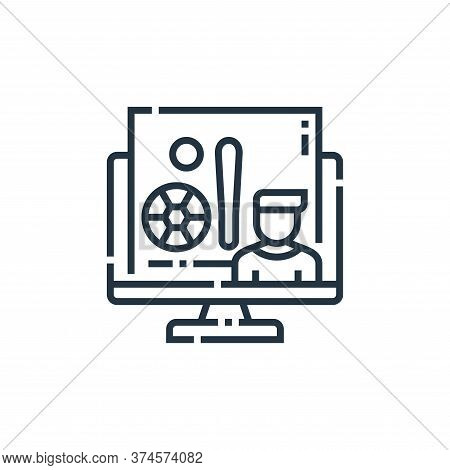 sports icon isolated on white background from videoblogger collection. sports icon trendy and modern