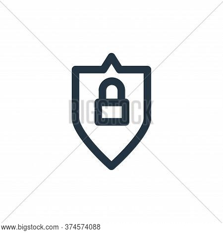 locked icon isolated on white background from computer hardware collection. locked icon trendy and m