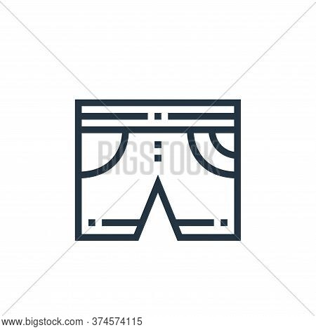 shorts icon isolated on white background from clothes and apparel collection. shorts icon trendy and