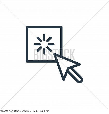 click icon isolated on white background from contact collection. click icon trendy and modern click