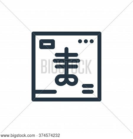 x ray icon isolated on white background from medical tools collection. x ray icon trendy and modern