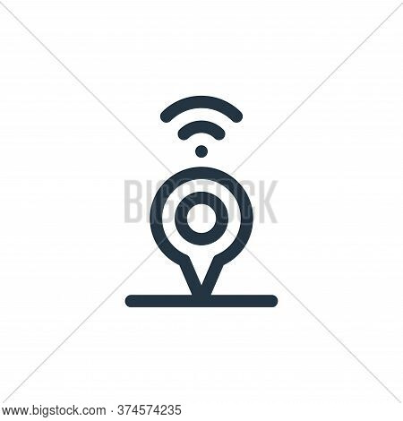 location icon isolated on white background from internet of things collection. location icon trendy