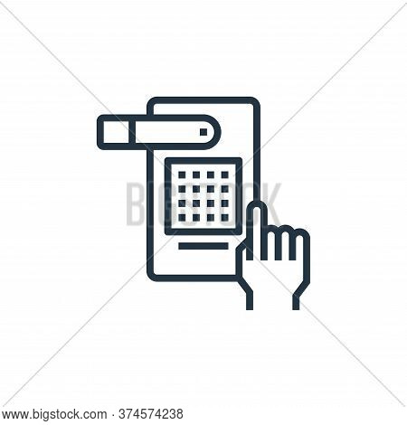 hand icon isolated on white background from hotel collection. hand icon trendy and modern hand symbo