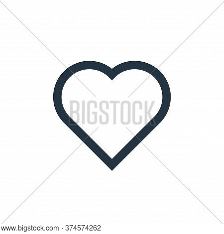 love icon isolated on white background from email collection. love icon trendy and modern love symbo