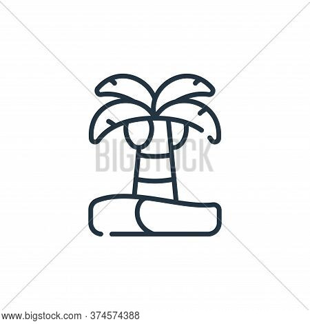 palm tree icon isolated on white background from ramadan collection. palm tree icon trendy and moder
