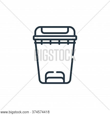 bin icon isolated on white background from bathroom collection. bin icon trendy and modern bin symbo
