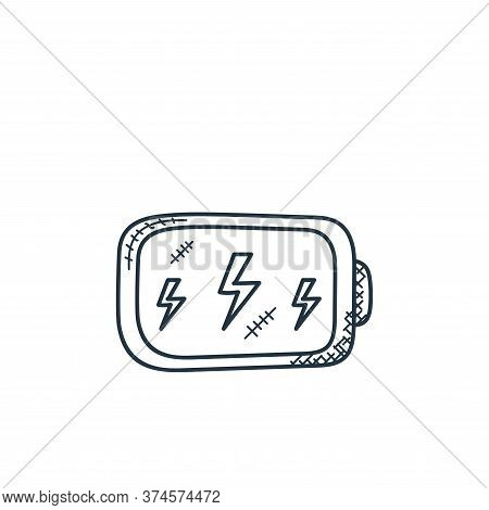 battery icon isolated on white background from technology collection. battery icon trendy and modern