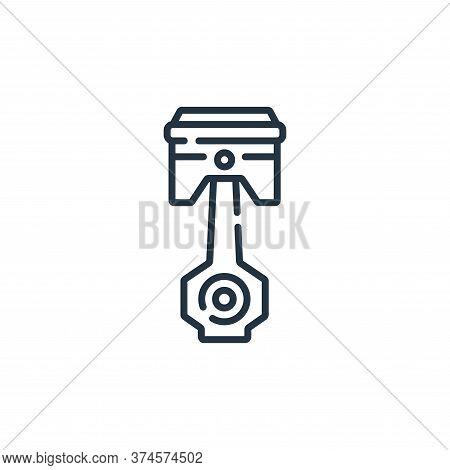 piston icon isolated on white background from auto racing collection. piston icon trendy and modern