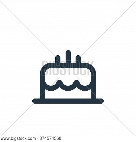 cake icon isolated on white background from food collection. cake icon trendy and modern cake symbol