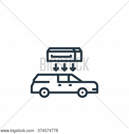 hearse icon isolated on white background from funeral collection. hearse icon trendy and modern hear