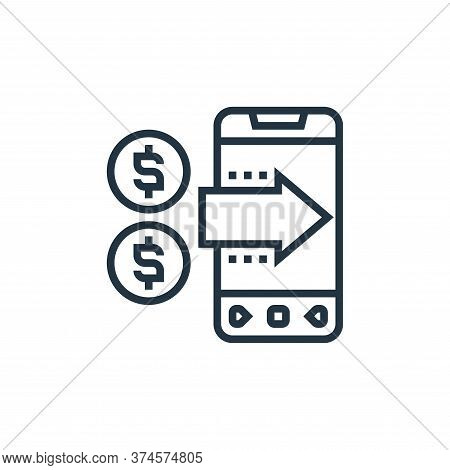 mobile payment icon isolated on white background from payment element collection. mobile payment ico