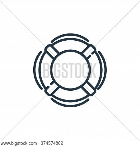 lifebuoy icon isolated on white background from insurance collection. lifebuoy icon trendy and moder