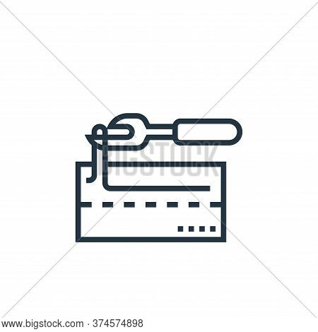 seam ripper icon isolated on white background from sewing equipment collection. seam ripper icon tre