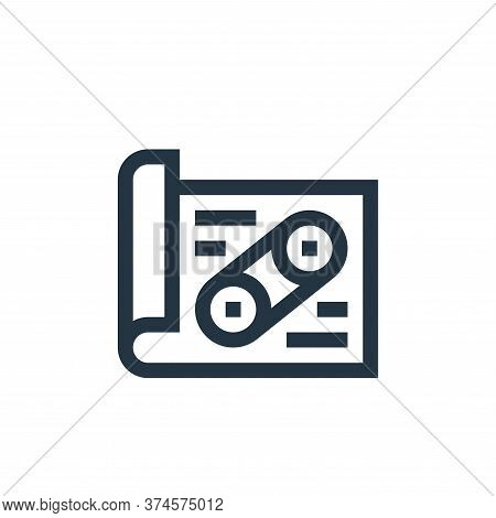 design icon isolated on white background from manufacturing collection. design icon trendy and moder