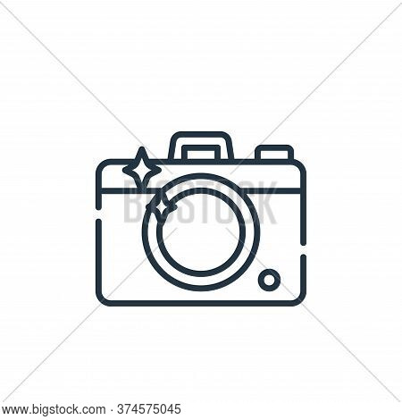 camera icon isolated on white background from fame collection. camera icon trendy and modern camera