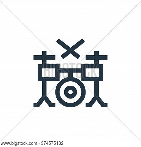 drum set icon isolated on white background from rock and roll collection. drum set icon trendy and m