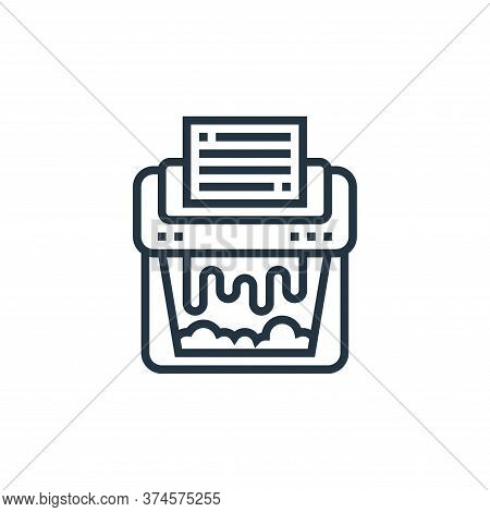 shredder icon isolated on white background from confidential information collection. shredder icon t