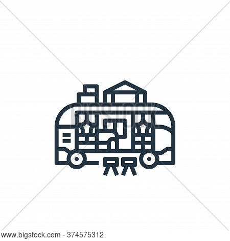 camper van icon isolated on white background from camping collection. camper van icon trendy and mod