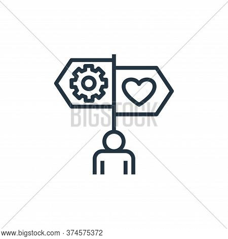 guidance icon isolated on white background from work life balance collection. guidance icon trendy a