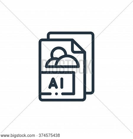 AI icon isolated on white background from design thinking collection. AI icon trendy and modern AI s