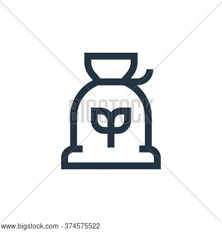 flour icon isolated on white background from nutrition collection. flour icon trendy and modern flou