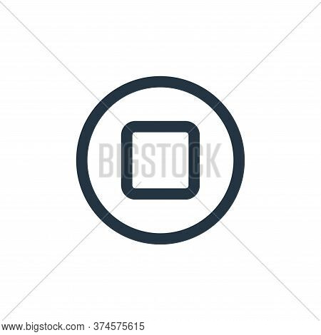 stop icon isolated on white background from multimedia collection. stop icon trendy and modern stop
