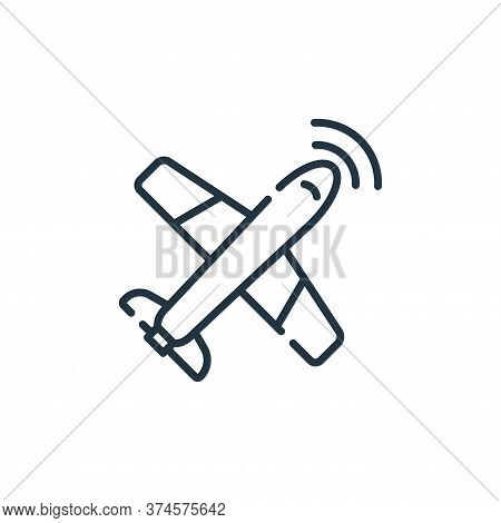 airplane icon isolated on white background from navigation and maps collection. airplane icon trendy
