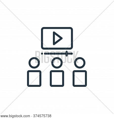 video lecture icon isolated on white background from online learning collection. video lecture icon