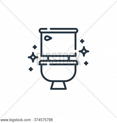 toilet icon isolated on white background from hygiene routine collection. toilet icon trendy and mod