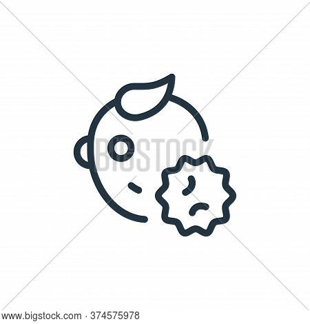 baby icon isolated on white background from coronavirus collection. baby icon trendy and modern baby