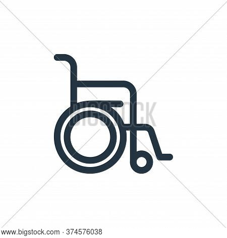 wheelchair icon isolated on white background from medical tools collection. wheelchair icon trendy a