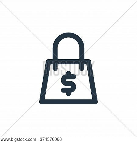 bag icon isolated on white background from marketing business collection. bag icon trendy and modern